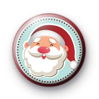 Mr Santa Claus Button Badge