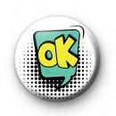 Comic Book Style OK Speech Bubble Badge