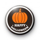 Happy Halloween Pumpkin Button Badge