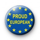 Proud European Button Badge