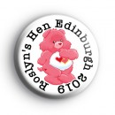 Custom Pink Care Bear Hen Party Badges