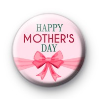 Pink Bow Happy Mothers Day Badges
