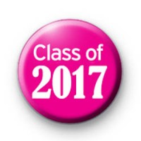 Pink Class of 2017 School Leaver Badges
