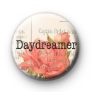 Pink Floral Daydreamer Badge