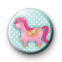Cute Funky Unicorn Pin Badge