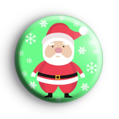Snowflake Plump Father Christmas Badge