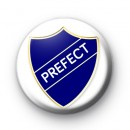 Blue School Prefect Button Badge