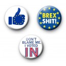 Set of 3 Pro Europe Button Badges