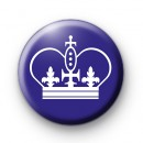 Purple Royal Crown Button Badge