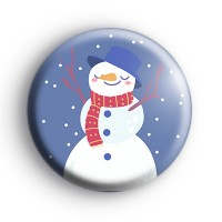 Relaxed Snowman Christmas Badge