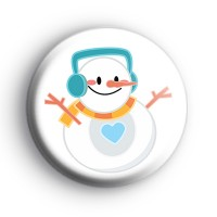 Round Snowman Christmas Badge