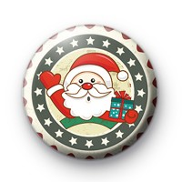 Santa Claus Ho Ho Ho Badge