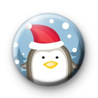 Festive Santa Penguin Button Badges