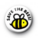 Save The Bees Button Badge