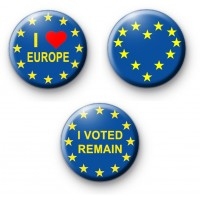 Set of 3 Pro EU European Badges