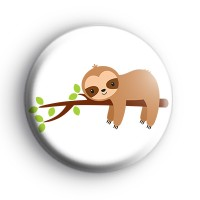 Happy Brown Sloth Badge