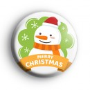 Classic Merry Christmas Snowman Badge