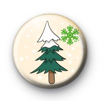 Snowy Christmas Tree Pin Badge