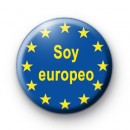 Soy europeo button badges