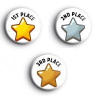 Set of 3 1st 2nd and 3rd Place Awards Badges