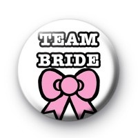 Team Bride Pink Bow Badge