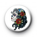 Tattoo Style Sugar Skull Badge