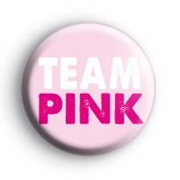 Team Pink Baby Shower Badges