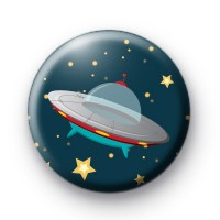 UFO Spaceship button badge