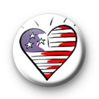American Flag Heart Badge