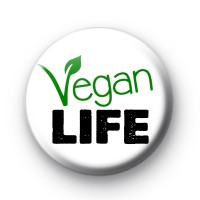 Vegan Life Button Badge