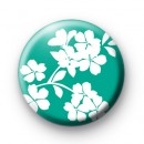 Cute White Flowers Button Badges