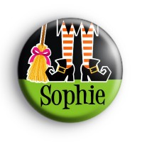 Custom Name Witch Feet Green Badge