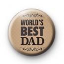Worlds Best Dad Button Badge
