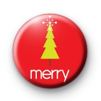 Merry Xmas Tree Badges