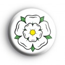 Yorkshire Rose Button Badge