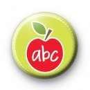 abc alphabet apple badge