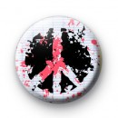 Abstract Peace Sign Badges