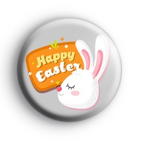 Adorable Happy Easter Bunny Badge