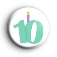 Candle 10th Birthday Badge