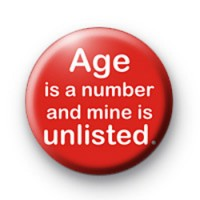 Age is a number badge