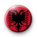 Albanian Flag Button Badge