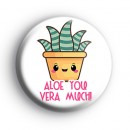 Green Aloe Vera Succulent Badge