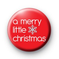 A merry little Christmas badge