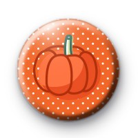 Spotty Orange Pumpkin Button Badges