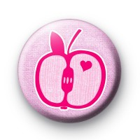 Hearts and Apples button badges