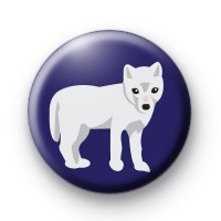 Arctic Fox Button Badges