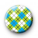 Green and Blue Argyle Pattern badge