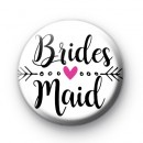 Arrow Bridesmaid Wedding Button Badges