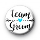 Arrow Team Groom Wedding Badge