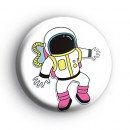 Astronaut Spaceman Button Badge